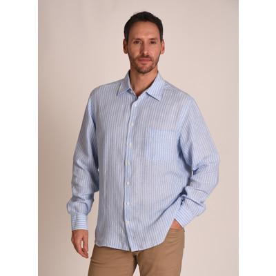 Thornham Classic Shirt Lt Blue Stripe