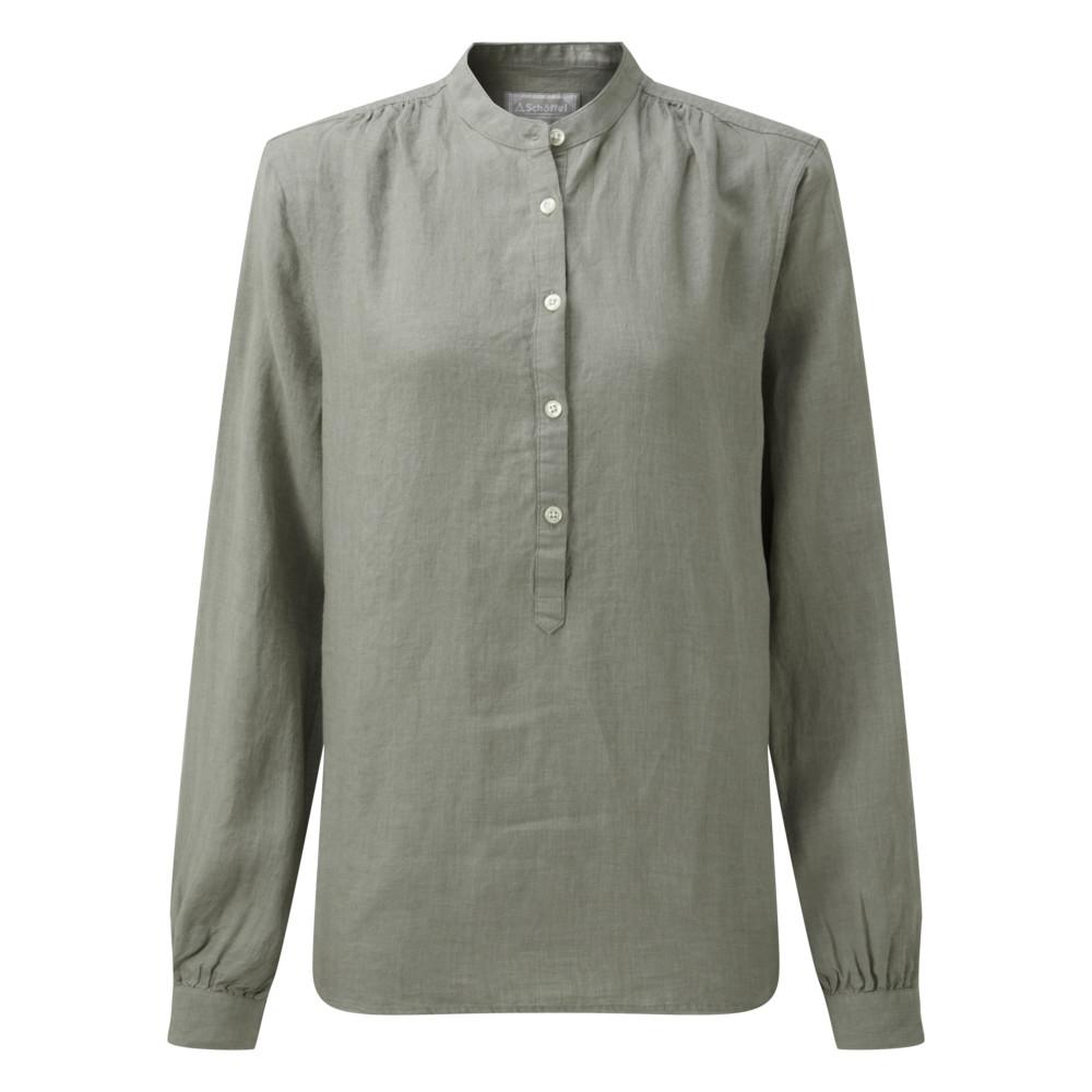 Athena Linen Shirt Sage