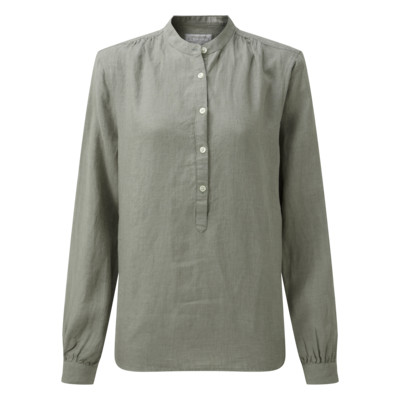 Schoffel Country Athena Linen Shirt in Sage