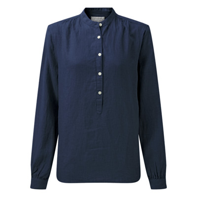 Schoffel Country Athena Linen Shirt in Navy