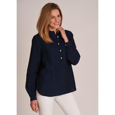 Athena Linen Shirt Navy
