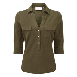 Schoffel Country Marina Jersey Shirt in Dark Olive