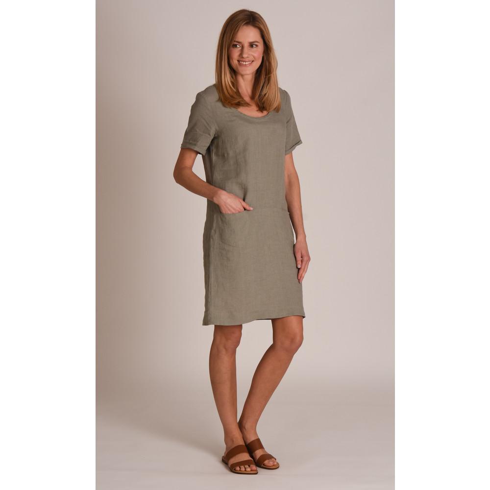 Athena Linen Dress Khaki