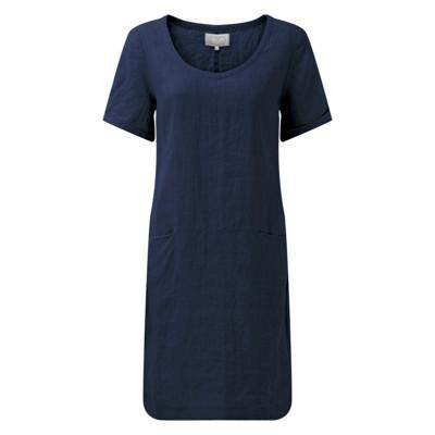 Athena Linen Dress Navy