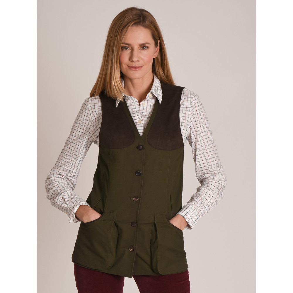 Ladies All Season Shooting Vest Dark Olive