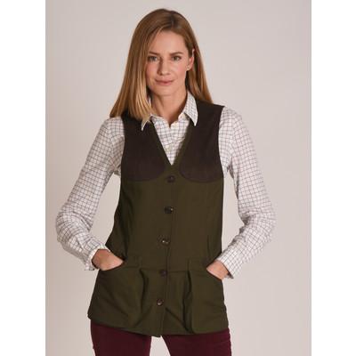 Ladies All Seasons Shooting Vest Dark Olive