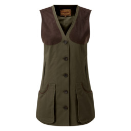 Ladies All Seasons Shooting Vest Dark Olive