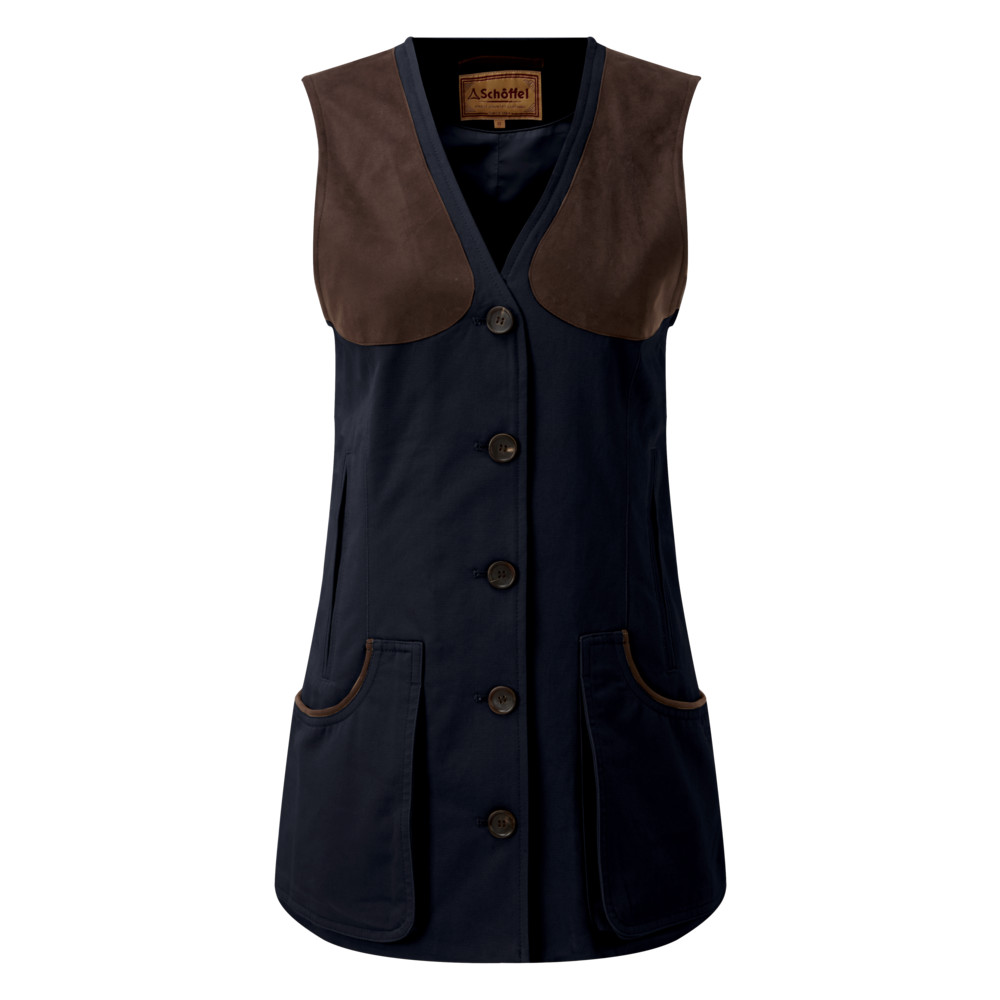 Ladies All Season Shooting Vest Navy