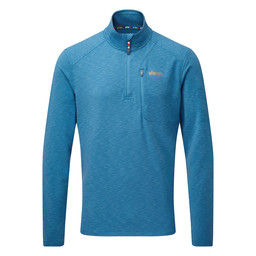 Sherpa Adventure Gear Om Zip Tee                in Raja Blue