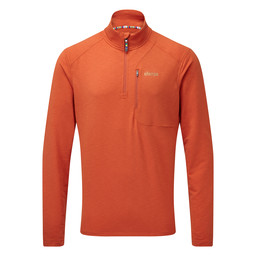 Sherpa Adventure Gear Om Zip Tee                in Teej Orange