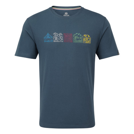 Sherpa Adventure Gear Lungta Tee in Neelo Blue
