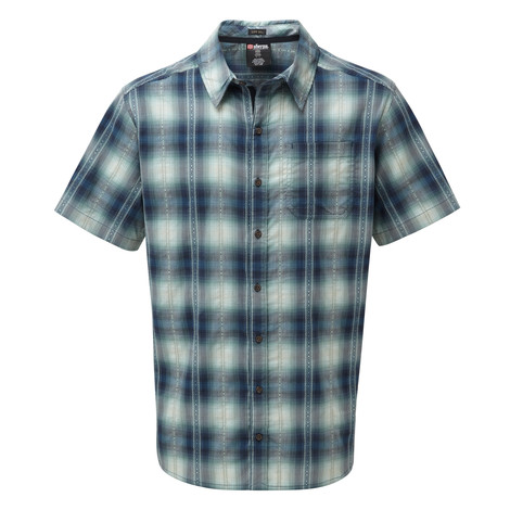 Sherpa Adventure Gear Manang Short Sleeve Shirt in Raja Blue