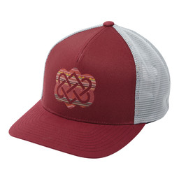 Sherpa Adventure Gear Endless Knot Trucker Hat  in Potala Red