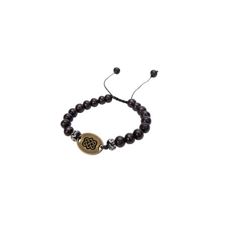 Mala Endless Knot Bracelet Black