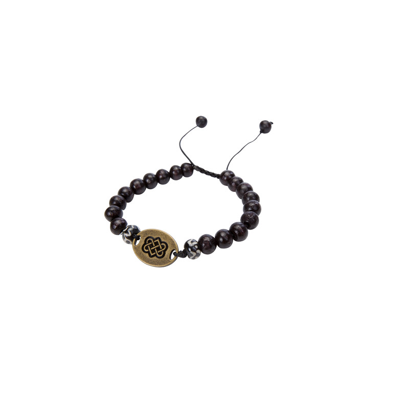 Mala Endless Knot Bracelet - Black