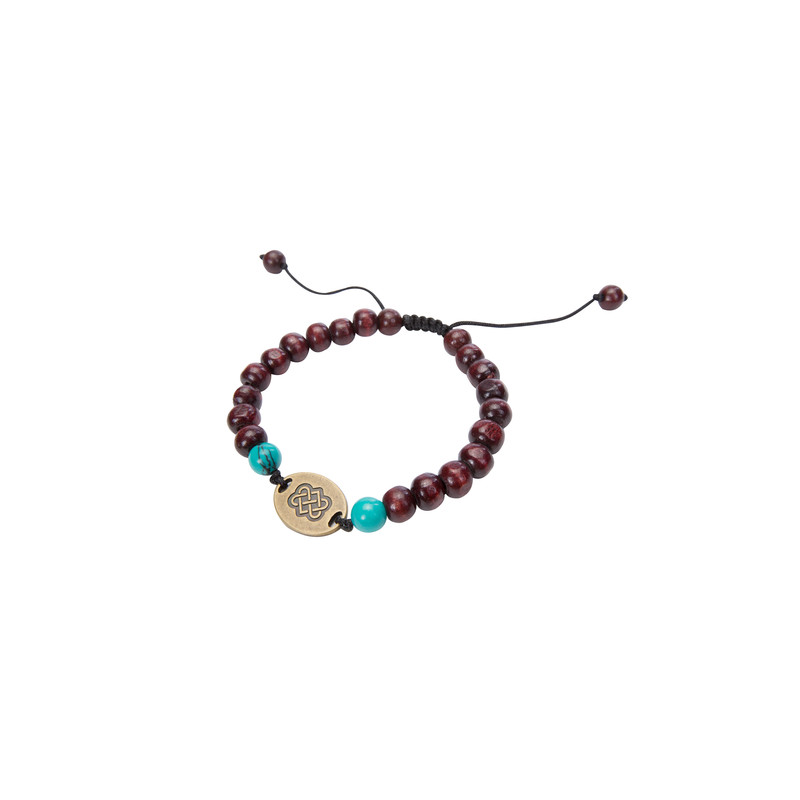 Mala Endless Knot Bracelet - Brown