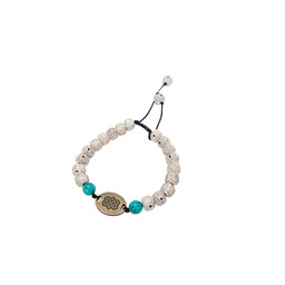 Sherpa Adventure Gear Mala Endless Knot Bracelet in Katha White