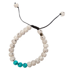 Mala Three Stone Bracelet Katha White