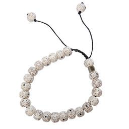 Mala Solid Bracelet Katha White