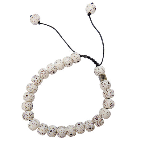 Sherpa Adventure Gear Mala Solid Bracelet in Katha White