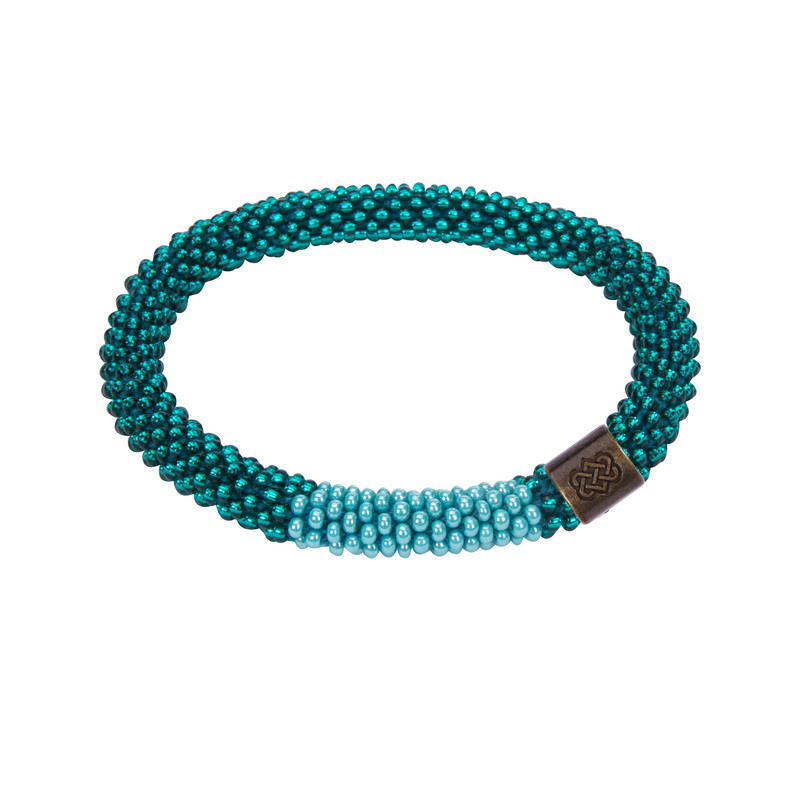 Mayalu Block Roll on Bracelet - Rathna Green