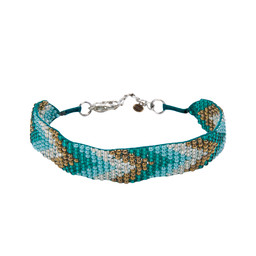 Sherpa Adventure Gear Mayalu Chevron Bracelet in Rathna Green