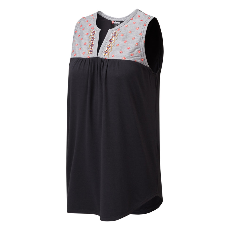 Maya Embroidery Sleeveless - Black