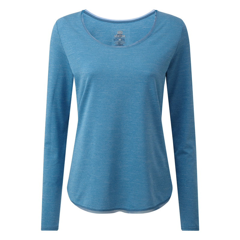 Valli Long Sleeve Tee - Raja Blue