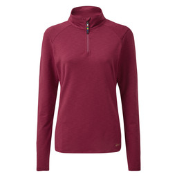 Sherpa Adventure Gear Om Zip Tee                in Anaar