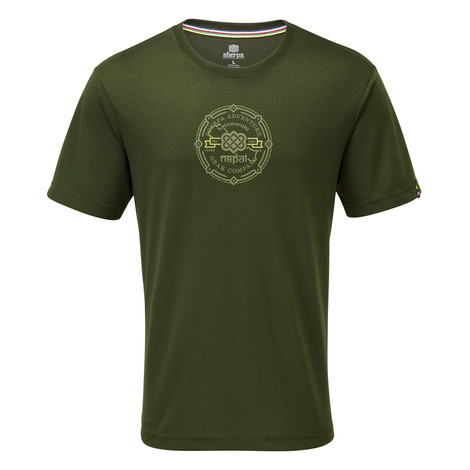 Sherpa Adventure Gear Kimti Short Sleeve Tee in Mewa Green