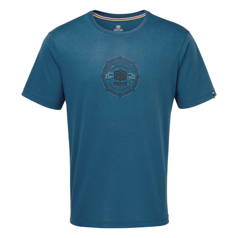 Sherpa Adventure Gear Kimti Short Sleeve Tee in Raja Blue