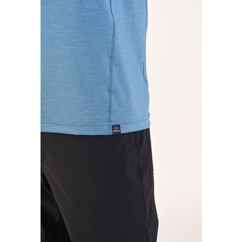 Rinchen Long Sleeve Tee - Raja Blue