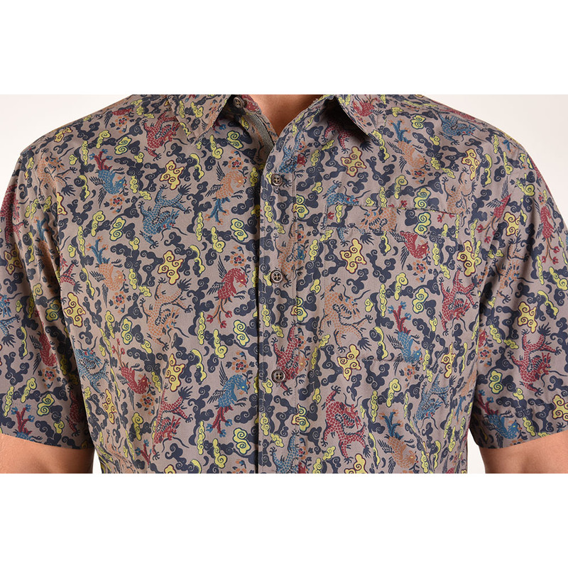 Durbar Shirt - Monsoon Dragon Print