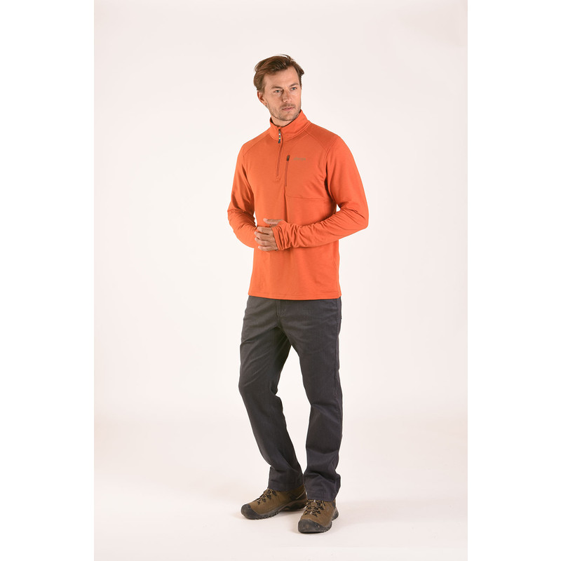 Om Zip Tee - Teej Orange