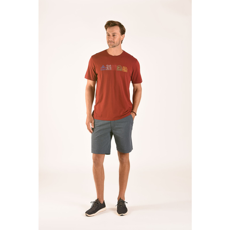 Lungta Tee - Potala Red