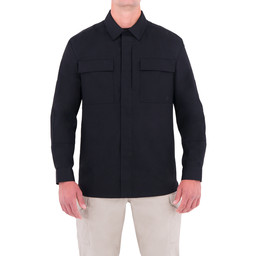 First Tactical M's L/S BDU Shirt in Black