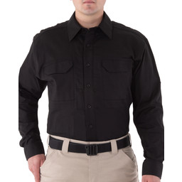 First Tactical Men's V2 Tactical L/S Shirt in Black