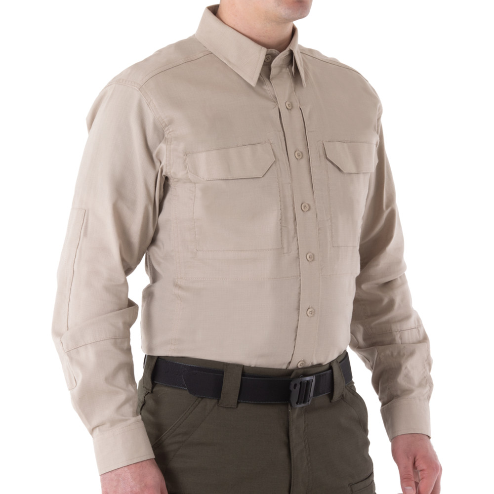 Men's V2 Tactical L/S Shirt Khaki