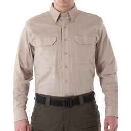 First Tactical Men's V2 Tactical L/S Shirt in Khaki