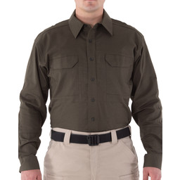 First Tactical Men's V2 Tactical L/S Shirt in OD Green