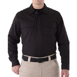 First Tactical Men's V2 BDU L/S Shirt in Black