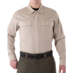 First Tactical Men's V2 BDU L/S Shirt in Khaki