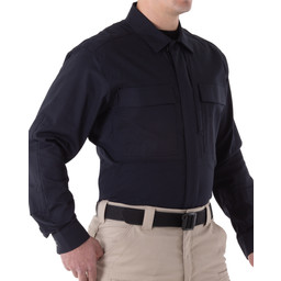 First Tactical Men's V2 BDU L/S Shirt in Midnight Navy
