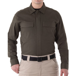 First Tactical Men's V2 BDU L/S Shirt in OD Green