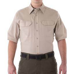 First Tactical Men's V2 Tactical S/S Shirt in Khaki