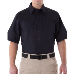 First Tactical Men's V2 Tactical S/S Shirt in Midnight Navy