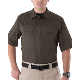 First Tactical Men's V2 Tactical S/S Shirt in OD Green