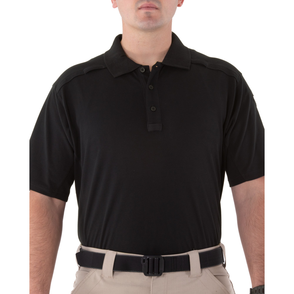 M's Cotton S/S Polo Pen Pocket Black