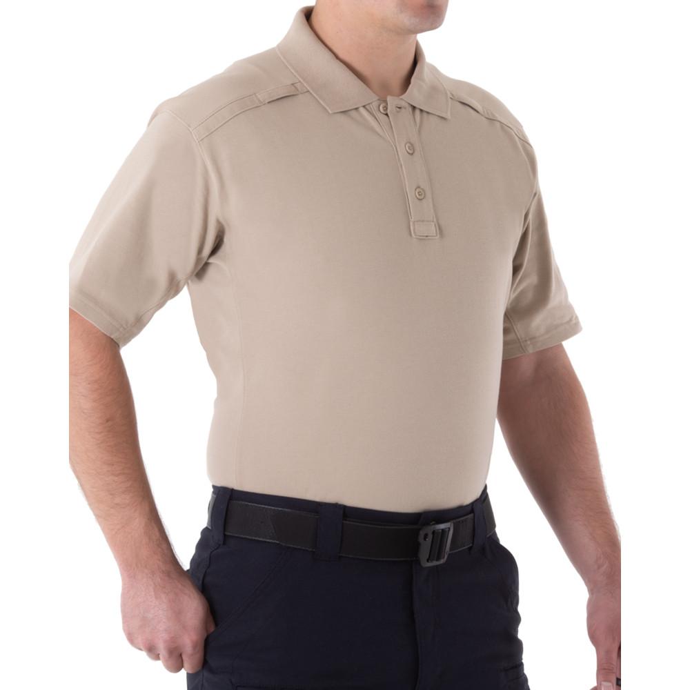 M's Cotton S/S Polo Pen Pocket Khaki