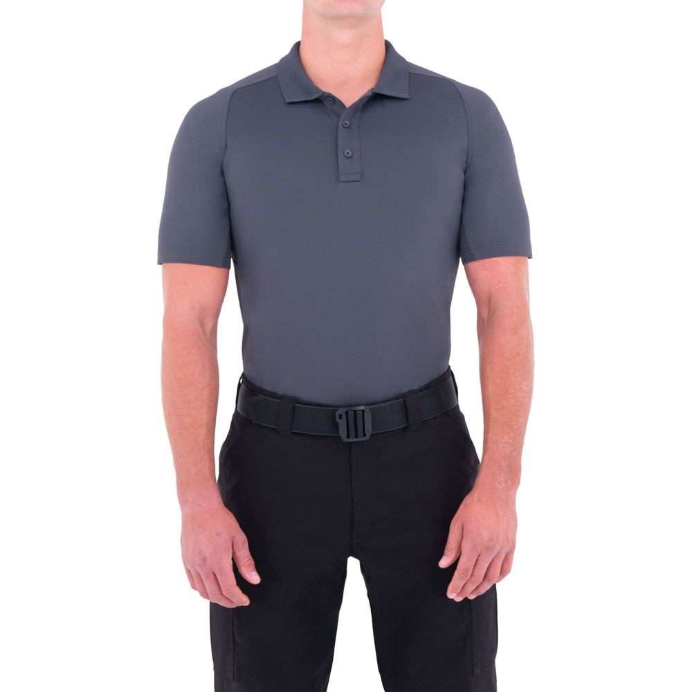 M's Performance S/S Polo Asphalt